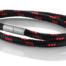 """Armband aus maritimen Segeltau der Marke Seemannsgarn by Q-Sportz _ Modell """"Usedom"""" schwarz-rot"""