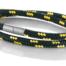 """Armband aus maritimen Segeltau der Marke Seemannsgarn by Q-Sportz _ Modell """"Usedom"""" schwarz-gelb"""
