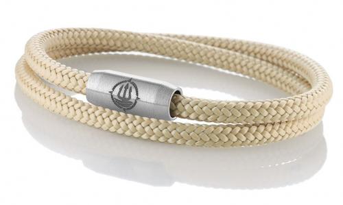 """Armband aus maritimen Segeltau der Marke Seemannsgarn by Q-Sportz _ Modell """"Föhr"""" beige"""