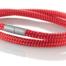 """Armband aus maritimen Segeltau der Marke Seemannsgarn by Q-Sportz _ Modell """"Föhr"""" rot"""