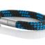 """Armband aus maritimen Segeltau der Marke Seemannsgarn by Q-Sportz _ Modell """"Usedom"""" schwarz-blau"""